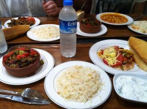 Typical dinner at Ehlitat